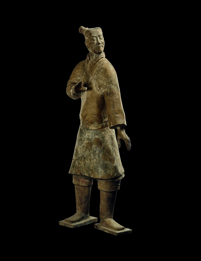 Standing archer, Qin Dynasty (221–206 B.C.). Earthenware, Emperor Qinshihuang's Mausoleum Site Museum. (The Metropolitan Museum of Art)