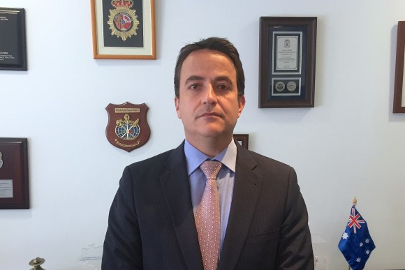 Christian Krüger Sarmiento, director of Migración Colombia, in his office near Bogota's airport, believes the repeal of the