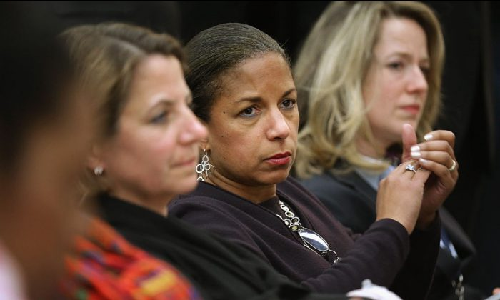 White House National Security Advisor Susan Rice (C) attends the White House Summit on Countering Violent Extremism in the Eisenhower Executive Office Building in Washington on Feb. 18, 2015. (Somodevilla/Getty Images)