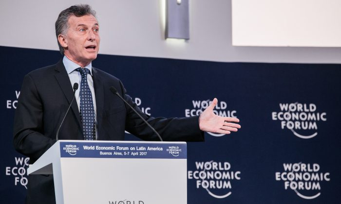 Mauricio Macri, President of Argentina at the World Economic Forum on Latin America 2017 in Buenos Aires, Argentina. Copyright by World Economic Forum / Benedikt von Loebell