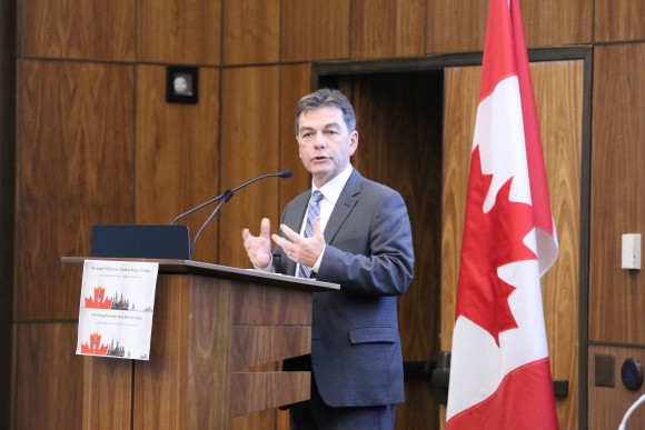 Co-host David Anderson, MP, at the 6th Parliamentary Forum on Religious Freedom in Ottawa on April 4, 2017. (Donna He/Epoch Times)