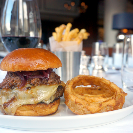The Urbani truffle burger. (Courtesy of Porter House Bar and Grill)