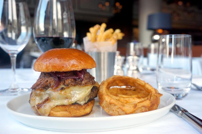 The Urbani truffle burger. (Courtesy of Porter House Bar and Grill)