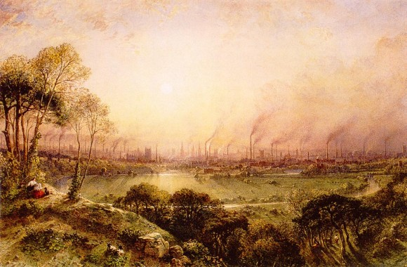 """""""Manchester from Kersal Moor"""" by William Wyld. (public domain)"""