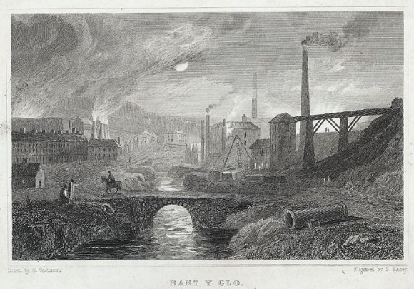 An engraving of an industrial scene by Henry Gastineau and Samuel Lacey. (public domain)