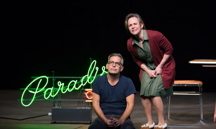 """Tom Wingfield (Joe Mantello) and his mother Amanda (Sally Field), in the play that brought first fame to Tennessee Williams, """"The Glass Menagerie: A Memory Play."""" (Julieta Cervantes)"""