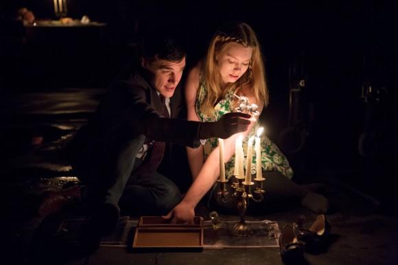 The gentlemen caller, Jim (Finn Wittrock), and Laura (Madison Ferris) in a tender moment. (Julieta Cervantes)