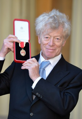 Sir Roger Scruton after he was knighted by the Prince of Wales during an investiture ceremony at Buckingham Palace in London on Nov. 25, 2016. (John Stillwell/Getty Images)