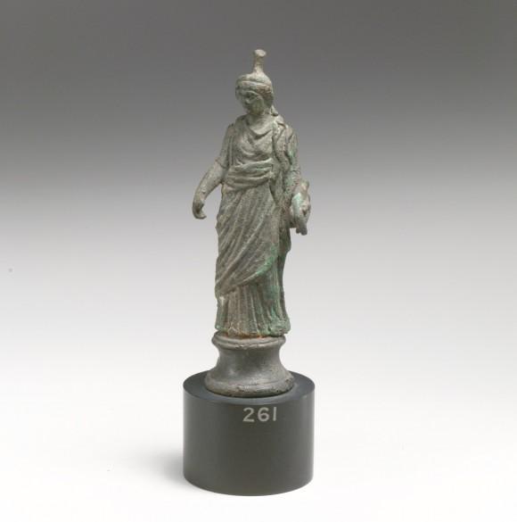 Bronze statuette of Tyche/Fortuna, 1st century.