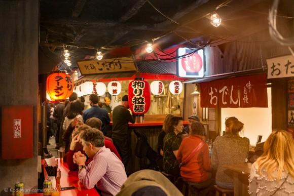 The Kodawari shop in Paris evokes the past days of Tokyo. (Courtesy of Ramen Lab)