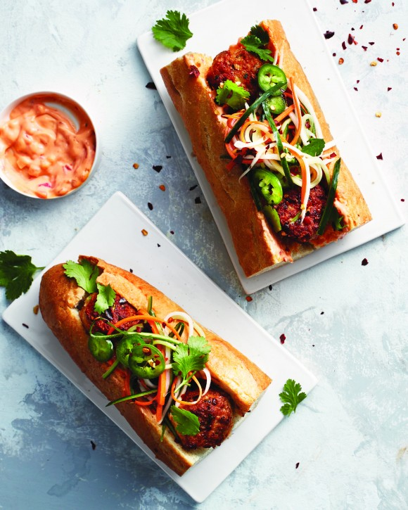 Chicken Meatball Banh Mi. (Courtesy of Time Inc. Books)