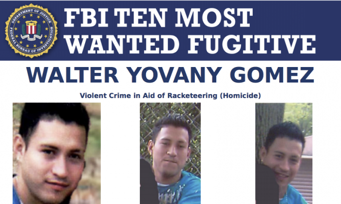 Walter Gomez is wanted by the FBI in connection with a brutal 2011 murder in Plainfield, N.J. (FBI/screenshot)