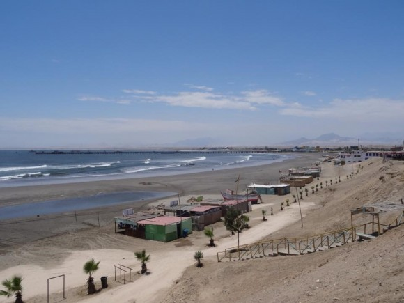 The beach at Chicama in northern Peru, where the longest left-breaking waves in the world can be found. (David Lawes)