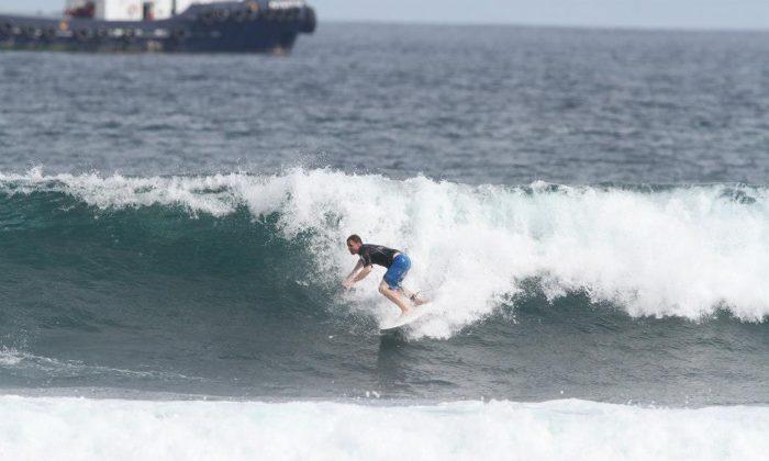 David Lawes surfing in Peru. (Courtesy David Lawes)