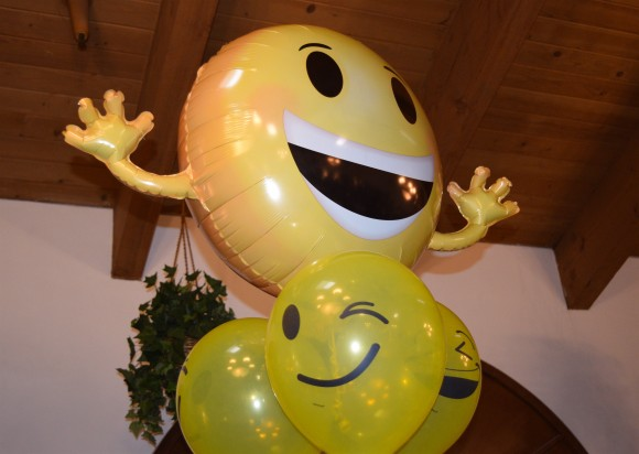 Balloons at a Hilarity for Charity event at Glen Park Healthy Living in Glendale, Calif. on Apr. 12. (Sarah Le/Epoch Times)