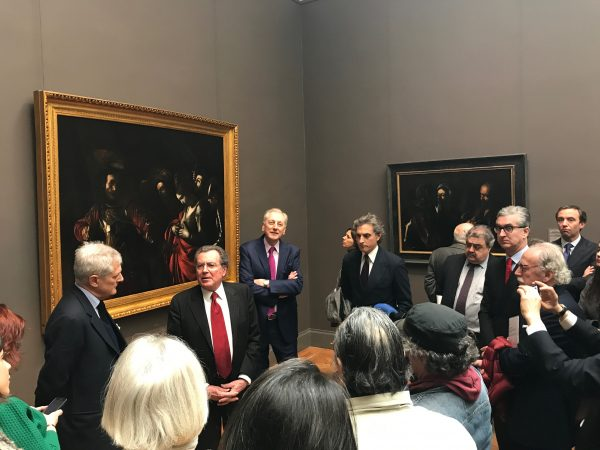 Press viewing of Caravaggio's Last Two Paintings, at The Metropolitan Museum of Art on April 13, 2017. (Milene Fernandez/The Epoch Times)