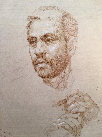 Self-portrait by Anthony Baus. (Courtesy of Colleen Barry)