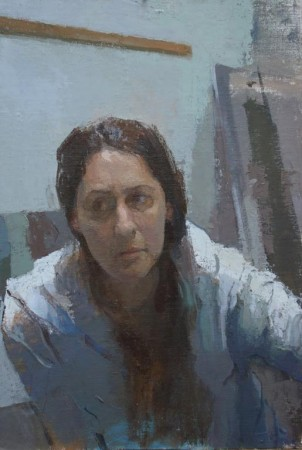 Self-portrait by Carolyn Pyfrom. (Courtesy of Colleen Barry)