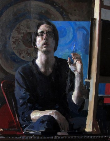 Self-portrait by Hollis Dunlap. (Courtesy of Colleen Barry)