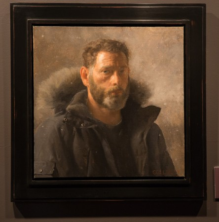 Self-portrait by artist and founder of Grand Central Atelier Jacob Collins, on display at the Eleventh Street Arts gallery. (Benjamin Chasteen/The Epoch Times)