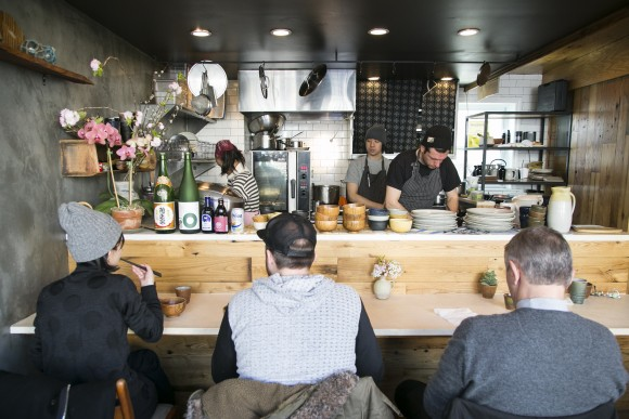 Diners waiting for breakfast at Okonomi. (Samira Bouaou/The Epoch Times)