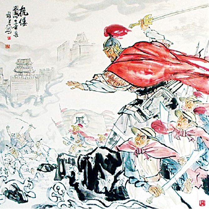 Qi Jiguang (1528 - 1588) and his fearless Qi Army defended China's east coast from a raid by Japanese pirates (wokou) during the Ming Dynasty.