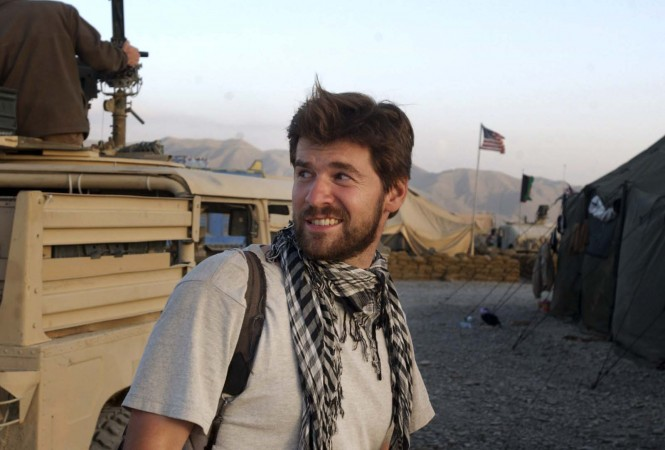Getty Images photographer Chris Hondros in Afghanistan. Hondros, who was on assignment in Misrata, Libya, was killed on April 20, 2011, by a rocket-propelled grenade. (Getty Images)