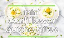 Recipe: Cauliflower Quiche Bites (Video)