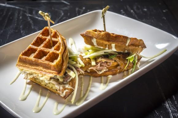 The Anthony's Duck Waffle Sandwich. (Noah Fecks)