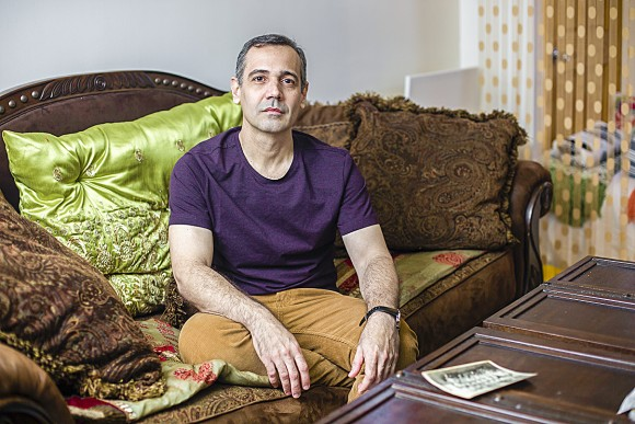 Jesús de León at his home in New York on March 16. De León defected from Cuba in 2004 and moved to the United States in 2012 after winning a green card in the lottery. (Samira Bouaou/The Epoch Times)