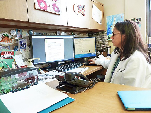 Dr. Mona Hanna-  Attisha, director of pediatric residency at Hurley Medical Center, in Flint, Mich., on Jan. 2, 2016. (AP Photo/Roger Schneider)