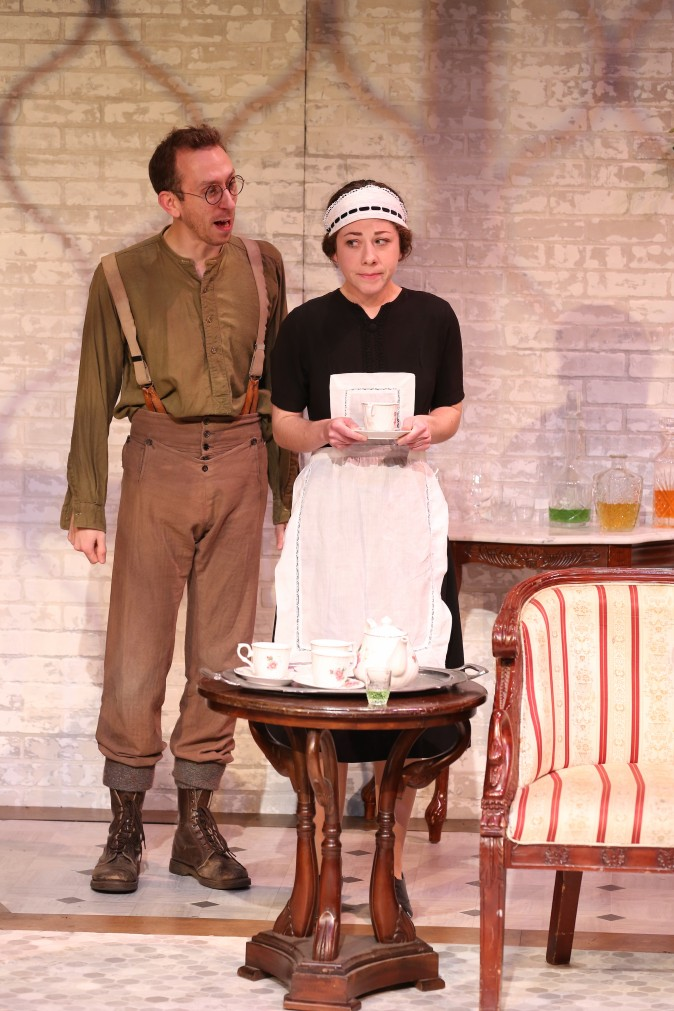 (L–R) Steven Blakeley and Annie Jackson in J.B. Priestley's