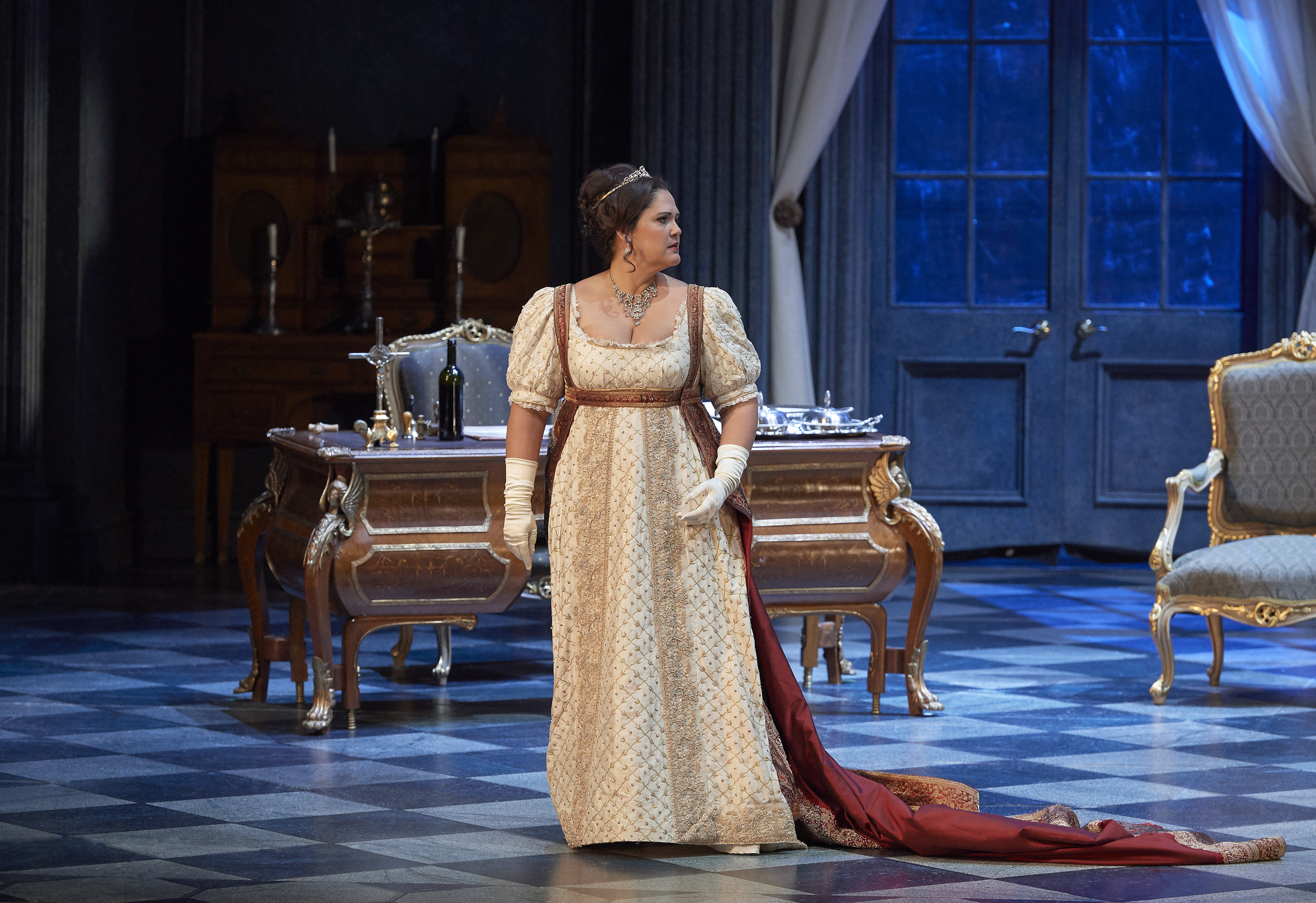 Singing the coveted role of Floria Tosca