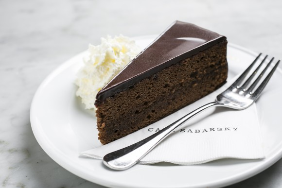 Sachertorte, or chocolate apricot cake. (Samira Bouaou/The Epoch Times)