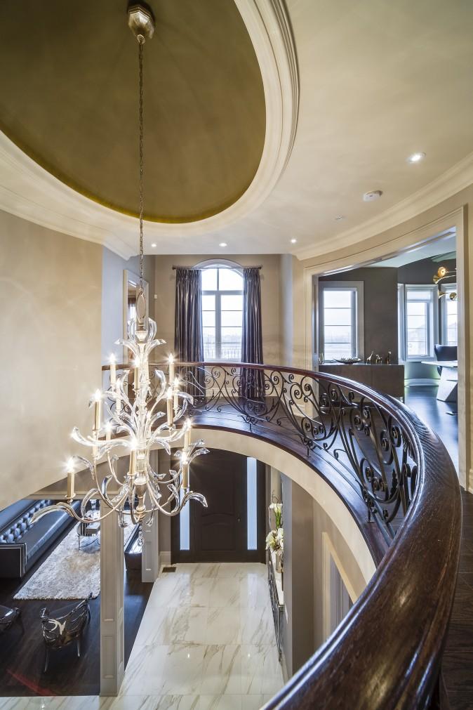 Caliber Homes' The Sofia Model Entryway, (Courtesy of Kleinburg Crown Estates)