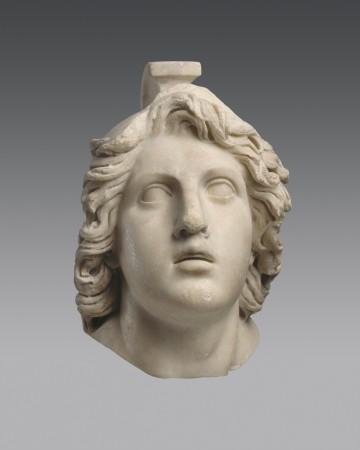 Head of Achilles. Marble, Roman copy of a Hellenistic original. Antikenmuseum Basel und Sammlung Ludwig. (Antikenmuseum Basel und Sammlung Ludwig).