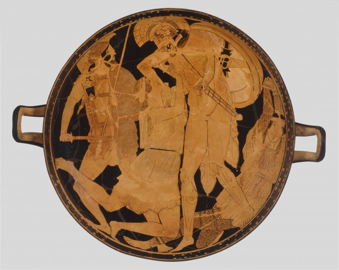Cup with Achilles Slaying Penthesilea