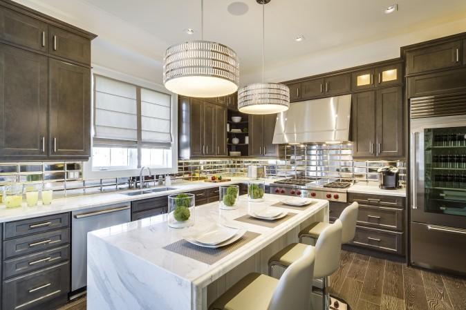 SkyHomes' The Opal Model Kitchen, (Courtesy of Kleinburg Crown Estates)