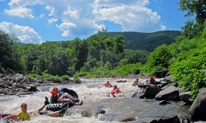 Tubing on Esopus Creek in the Catskills. (ScubaBear68/Wikimedia Commons)