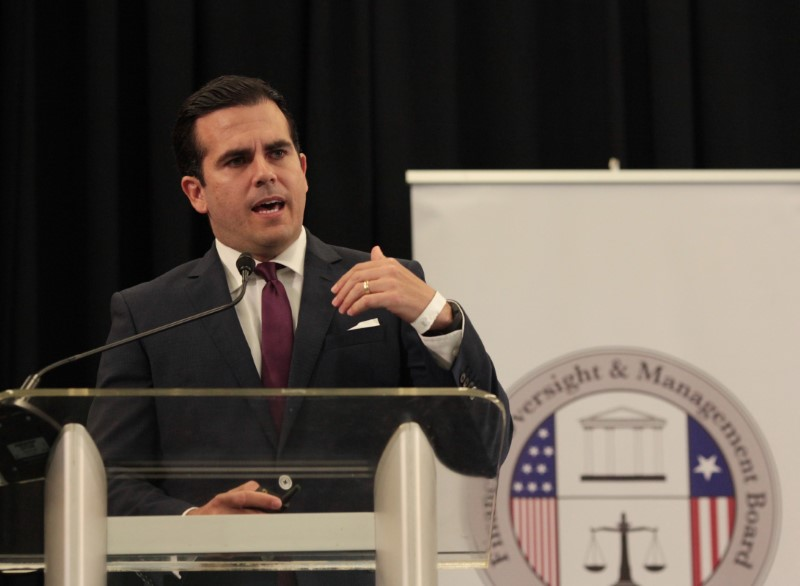 Puerto Rico's Governor Ricardo Rossello during a meeting of the Financial Oversight and Management Board for Puerto Rico at the Convention Center in San Juan, Puerto Rico on March 31, 2017. (REUTERS/Alvin Baez)