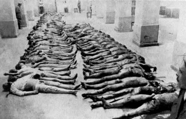 Executed victims of the Soviet Cheka secret police in 1918 or 1919 in Kiev. (Public Domain)