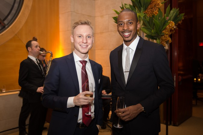 Niklas Hackstein and Carlton Williams  at the Berkshire Hathaway HomeServices New York  celebration. (Benjamin Chasteen/The Epoch Times)