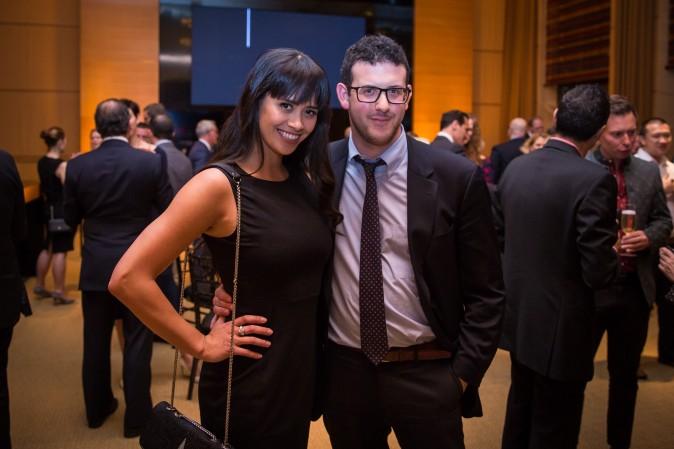 Vanessa Rumreich and Alex Ritscher at the Berkshire Hathaway HomeServices New York  celebration. (Benjamin Chasteen/The Epoch Times)