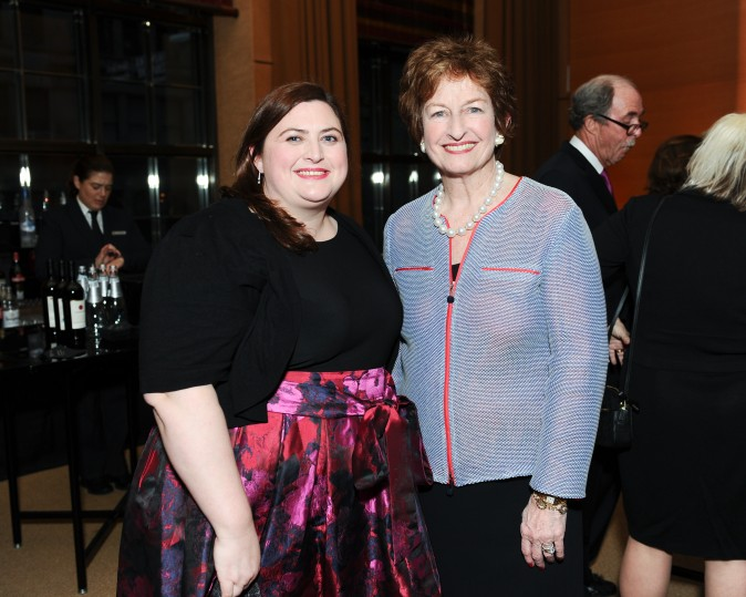 Elizabeth Ann Stribling, Kathleen Doyle at the celebration of the opening of Berkshire Hathaway HomeServices New York Properties hosted at the Four Seasons Hotel New York on April 26, 2017. (Courtesy of Rommel Demano for BFA)