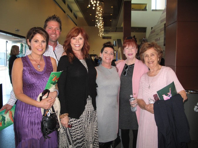 "Kimber Eastwood (3rd L), her husband, Shawn Midkiff (2nd L), family, and friends enjoyed the matinee showing of Shen Yun Performing Arts at the Fred Kavli Theatre on March 29, 2017. ""It just has such a beautiful message about how goodness, and love, and patience overcome evil and nastiness,"" Kimber Eastwood said. (Yaning Liu/Epoch Times)"