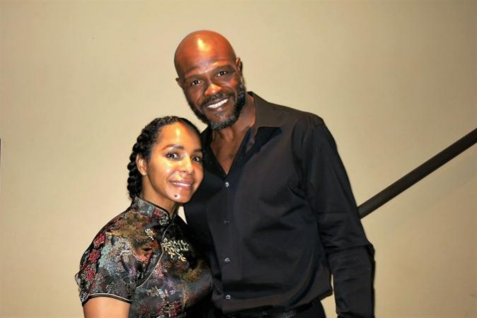 "Terry Norris, retired boxing champion, fitness trainer, and owner of World Champion Cardio Boxing; and his wife Tanya Norris, also a fitness trainer who runs the business, enjoyed Shen Yun Performing Arts at the Dolby Theater in Hollywood, Calif. on Apr. 16. ""We really liked the show. It's amazing,"" said Mrs. Norris. It was her second time attending the performance, while it was her husband's first. (Michael Ye/Epoch Times)"