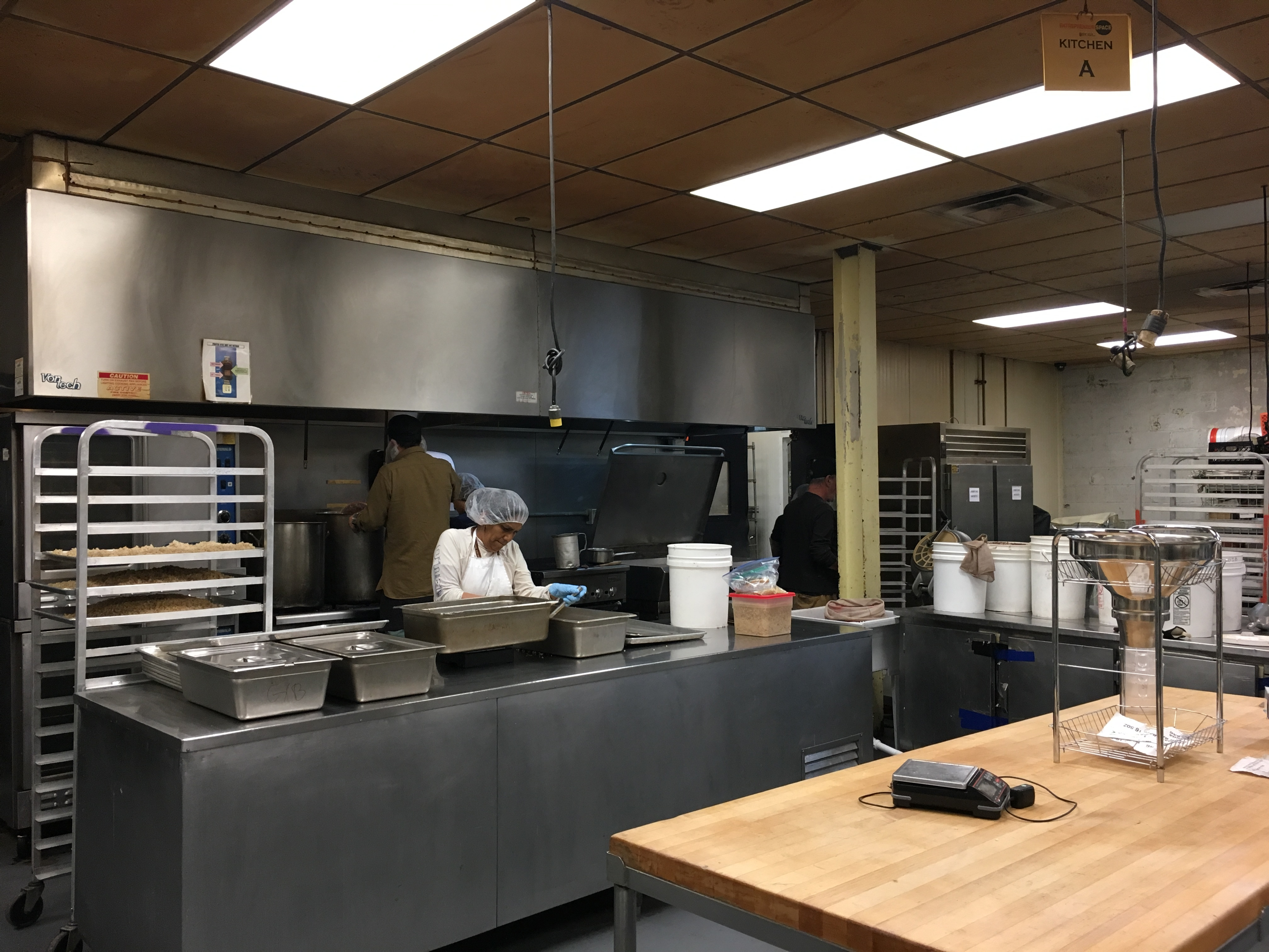The Entrepreneur Space, a kitchen incubator based in Queens, New York, on May 3.