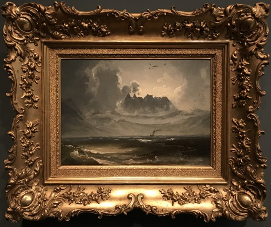 """Seascape,"" circa 1845, by Peder Balke. Oil on canvas, mounted on masonite, lent by Asbjorn Lunde. (Milene Fernandez/The Epoch Times)"