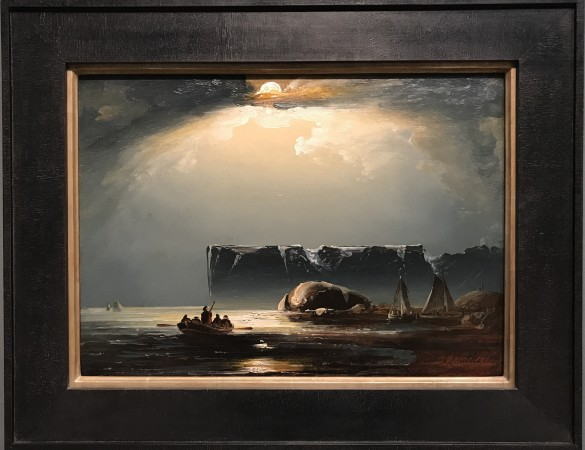 """The North Cape by Moonlight,"" 1848, by Peder Balke. Oil on canvas.  (Milene Fernandez/The Epoch Times)"