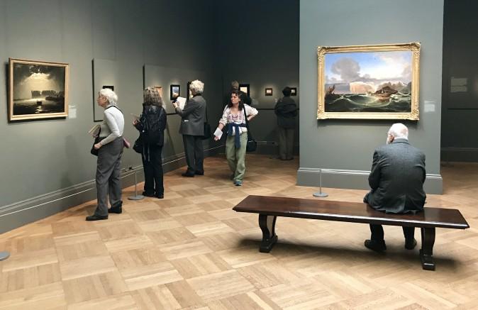 """Peder Balke: Painter of Northern Light"" exhibition at The Metropolitan Museum of Art on April 13, 2017. (Milene Fernandez/The Epoch Times)"